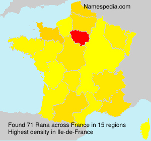Surname Rana in France