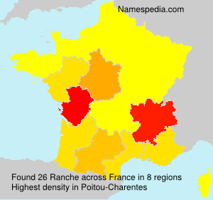 Surname Ranche in France