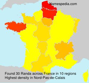 Surname Randa in France
