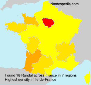 Surname Randal in France