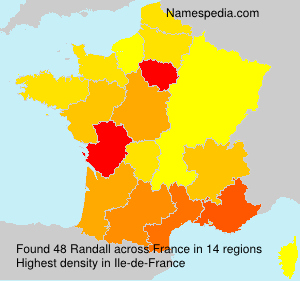 Surname Randall in France
