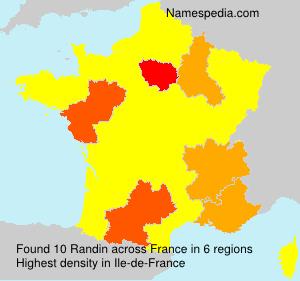 Surname Randin in France