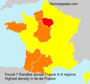 Surname Randles in France