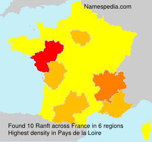 Surname Ranft in France