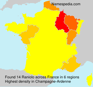 Surname Raniolo in France
