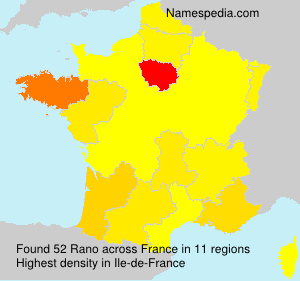 Surname Rano in France