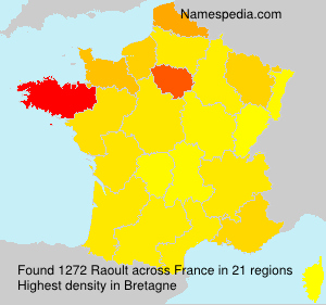 Surname Raoult in France