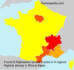 Surname Raphaelian in France