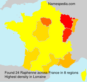 Surname Raphenne in France