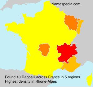 Surname Rappelli in France