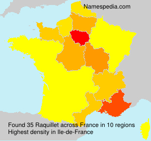 Surname Raquillet in France