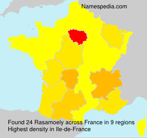 Surname Rasamoely in France