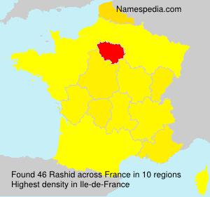 Familiennamen Rashid - France