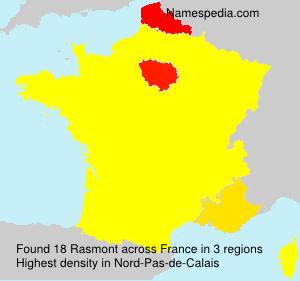 Surname Rasmont in France