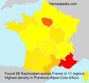 Surname Rasmussen in France