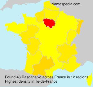 Surname Rasoanaivo in France