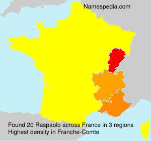 Surname Raspaolo in France