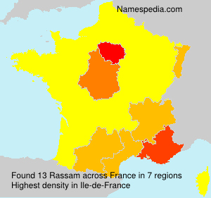 Surname Rassam in France