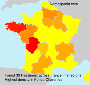 Surname Rassineux in France