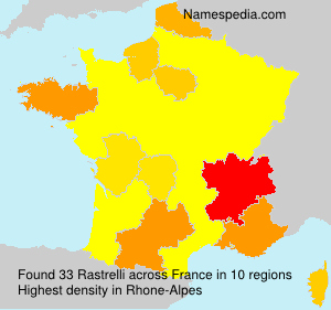 Surname Rastrelli in France
