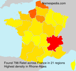 Surname Ratel in France