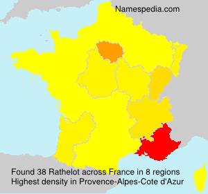 Surname Rathelot in France