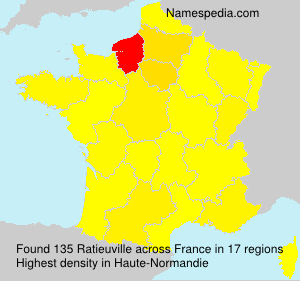 Surname Ratieuville in France