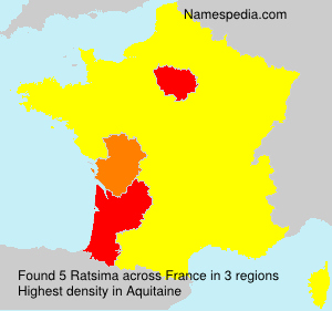 Surname Ratsima in France