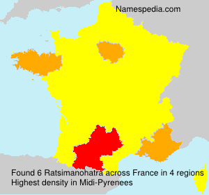 Surname Ratsimanohatra in France