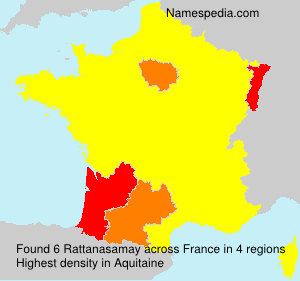 Surname Rattanasamay in France