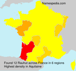 Surname Rauhut in France
