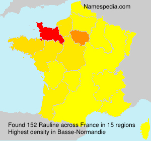 Surname Rauline in France