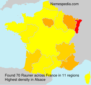 Surname Rauner in France