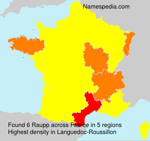Surname Raupp in France