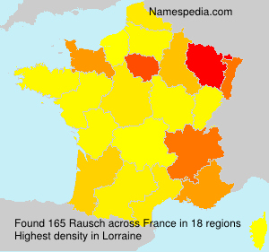 Surname Rausch in France