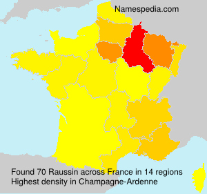 Surname Raussin in France