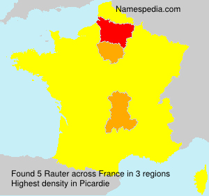 Surname Rauter in France