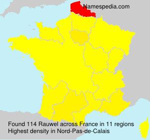 Surname Rauwel in France