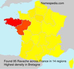 Surname Ravache in France