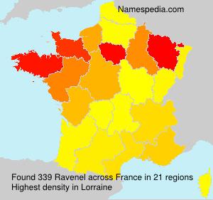 Surname Ravenel in France
