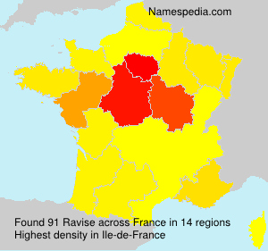 Surname Ravise in France