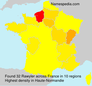 Surname Rawyler in France