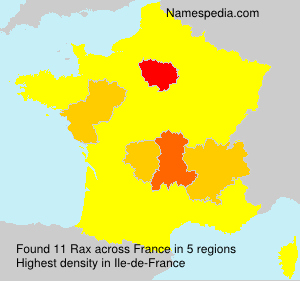 Surname Rax in France
