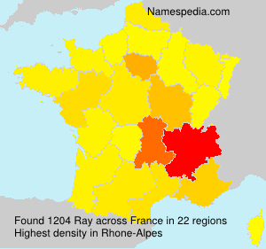 Surname Ray in France