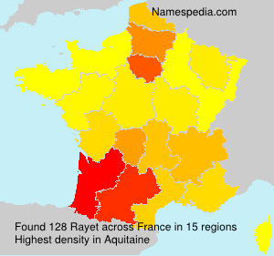 Surname Rayet in France