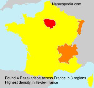 Familiennamen Razakarisoa - France
