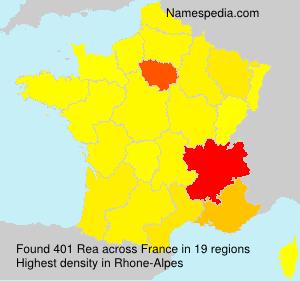 Surname Rea in France