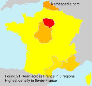 Surname Rean in France
