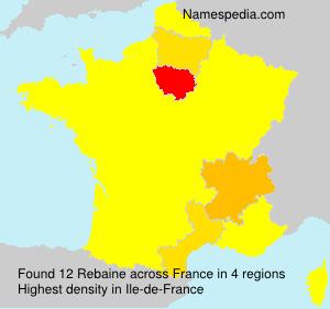 Surname Rebaine in France