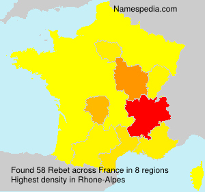 Surname Rebet in France
